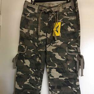 JOY JEANS , size L, army print pants , 100%COTTON
